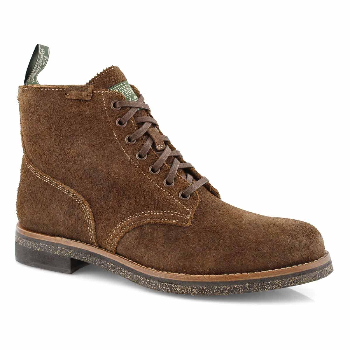Mns RL Army BT choc brn lace up boots