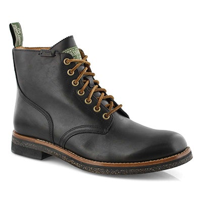 Mns RL Army BT black lace up boots