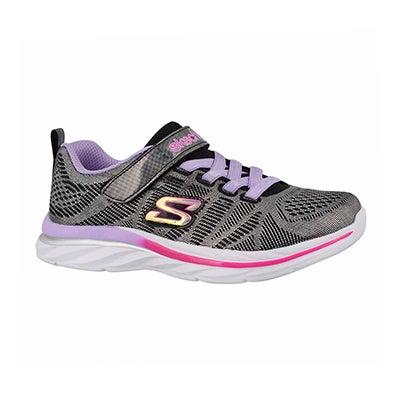 Grls Quick Kicks blk/mlti sneaker