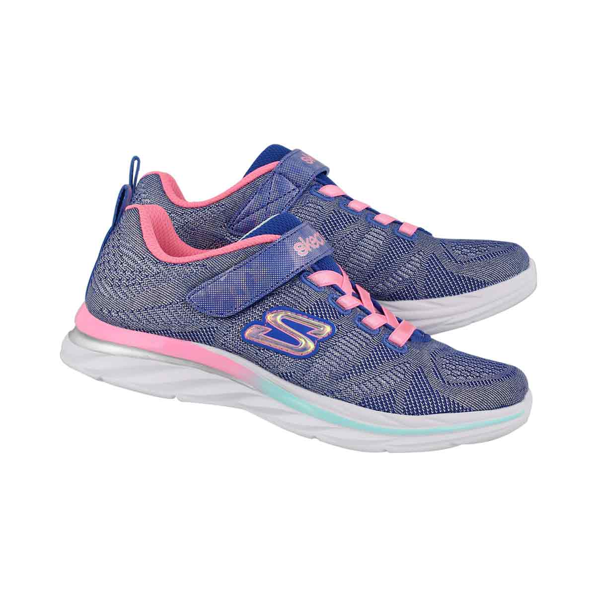 Grls Quick Kicks blue/pink sneaker