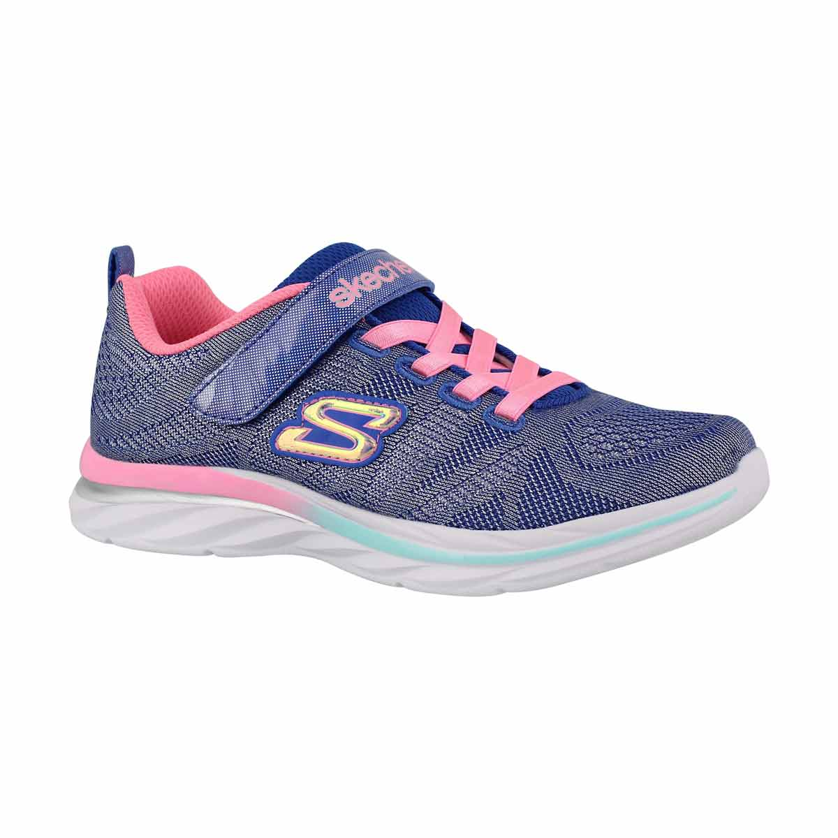 Girls' QUICK KICKS blue/pink sneakers