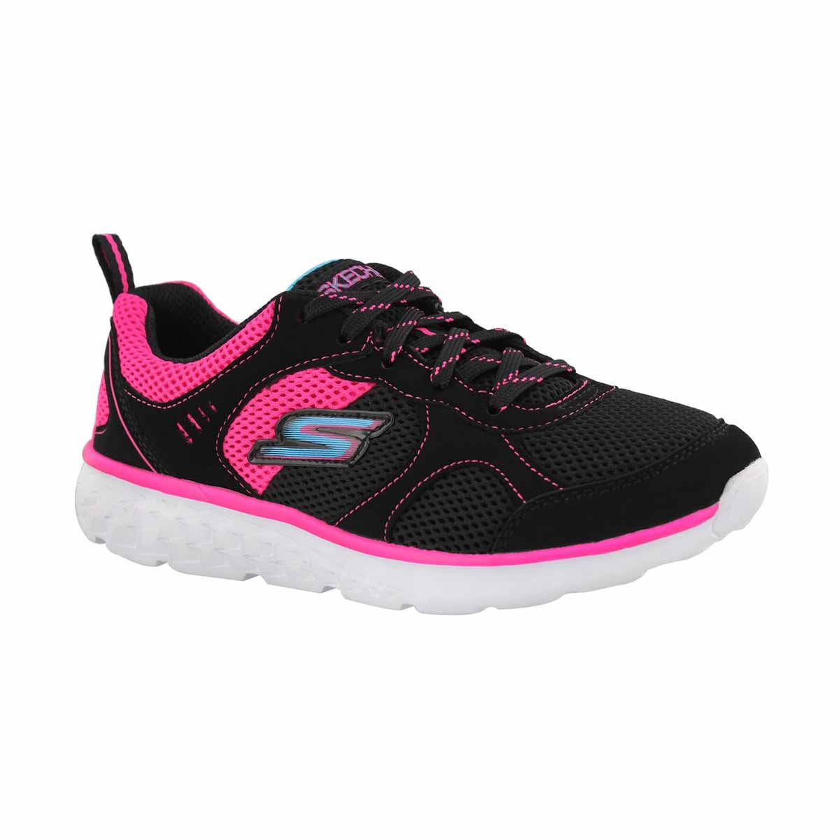 Girls' GORun 400 black/pink sneaker