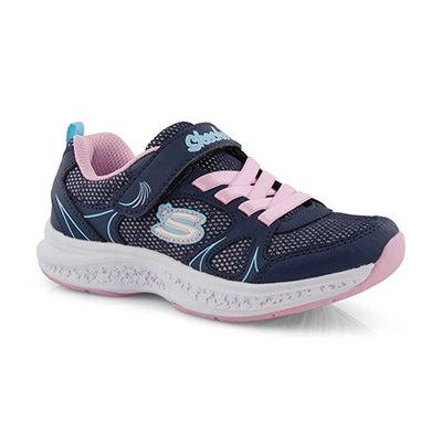 Grls Star Speeder nvy/pnk sneaker