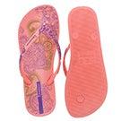 Lds Lace pink/purple printed flip flop
