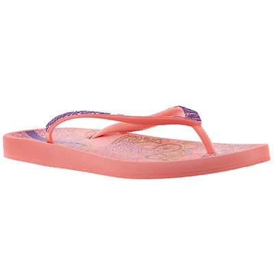 Ipanema Women's LACE pink/purple printed flip flops