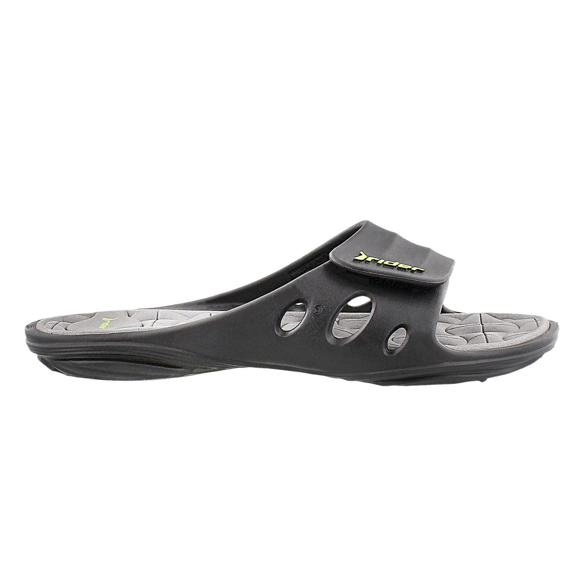 Lds Key VII black slide sport sandal