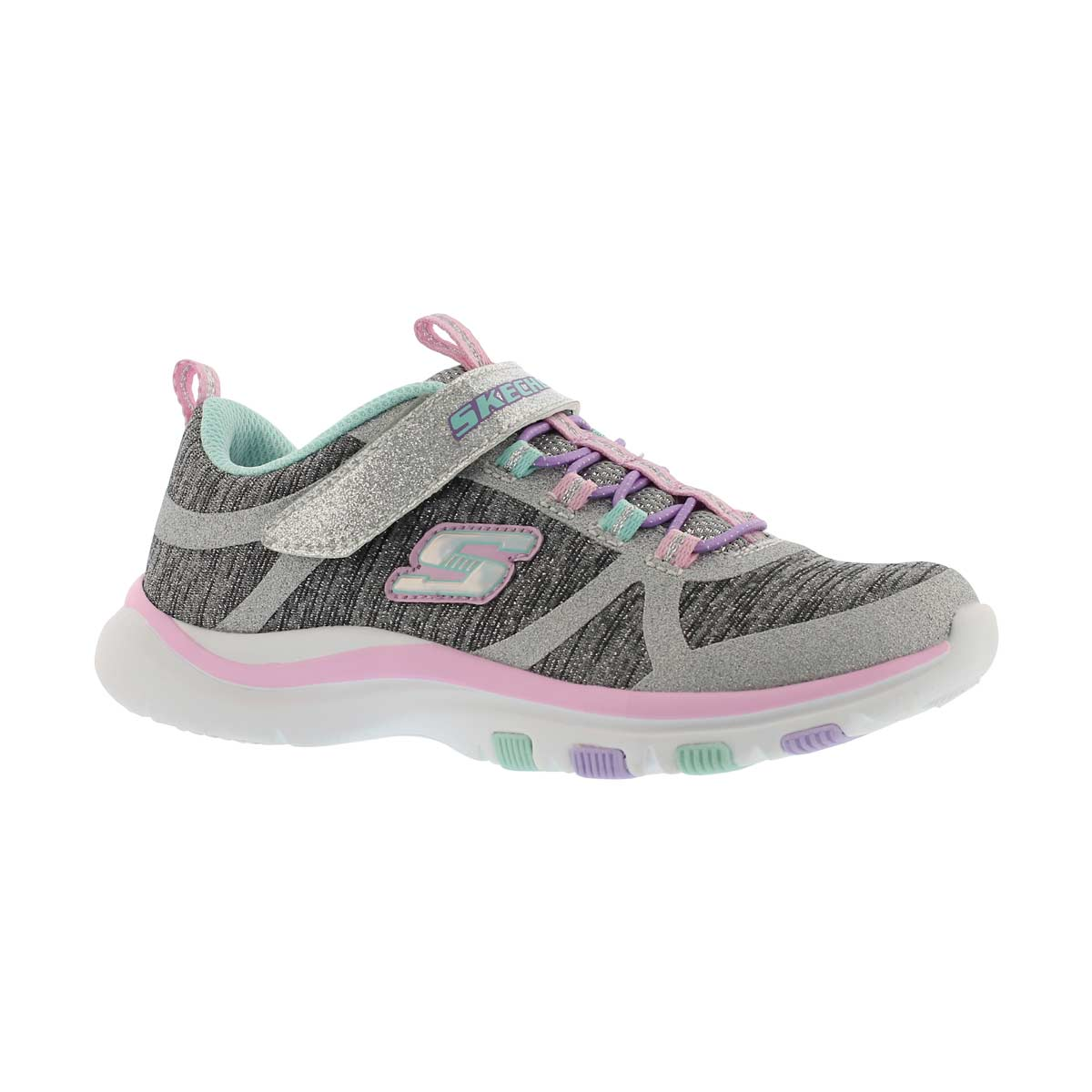 Girls' TRAINER LITE JAZZY JUMPER gy/mlt sneakers
