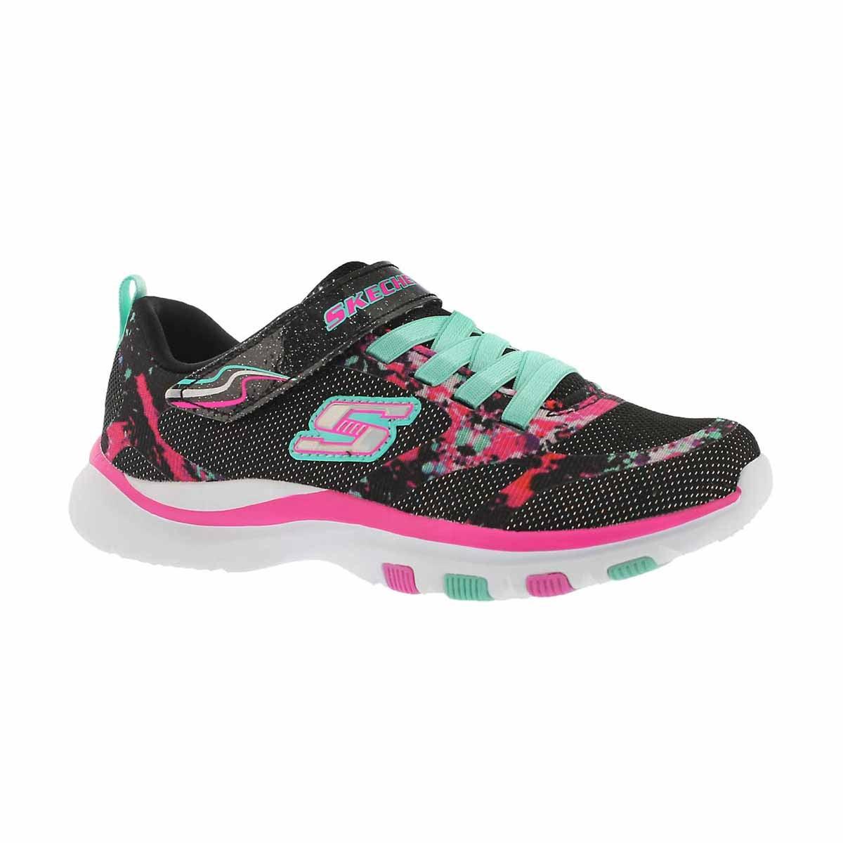 Girls' TRAINER LITE, black/multi sneaker