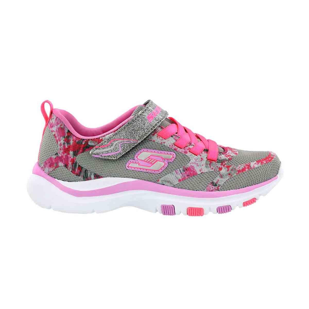 Grls Trainer Lite grey/pink sneaker