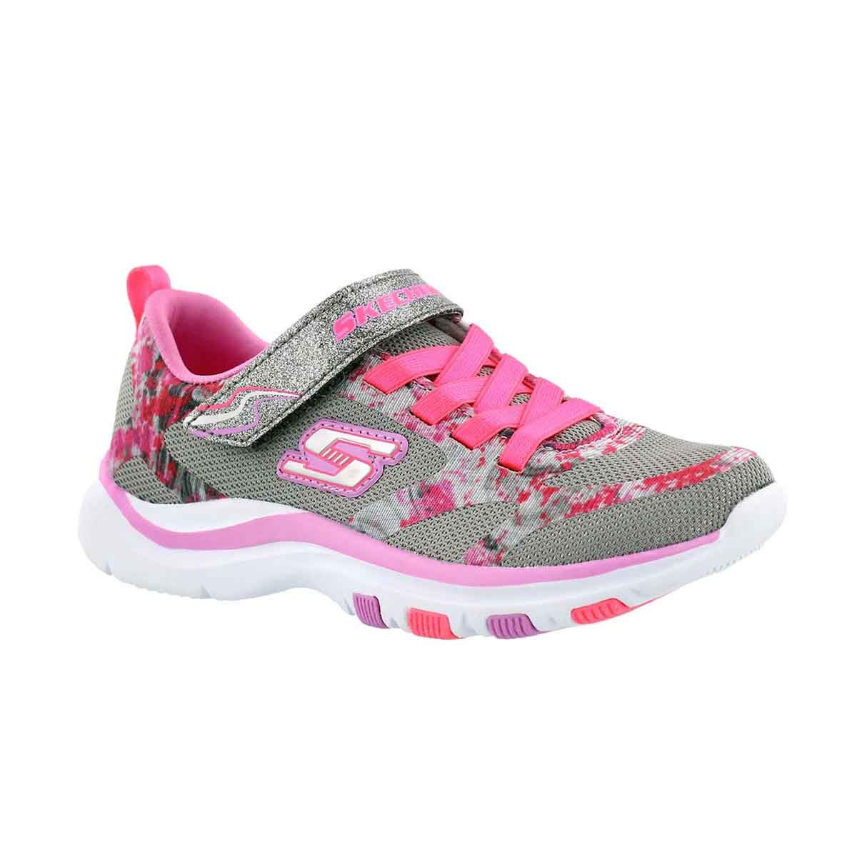Girls' TRAINER LITE grey/pink sneakers