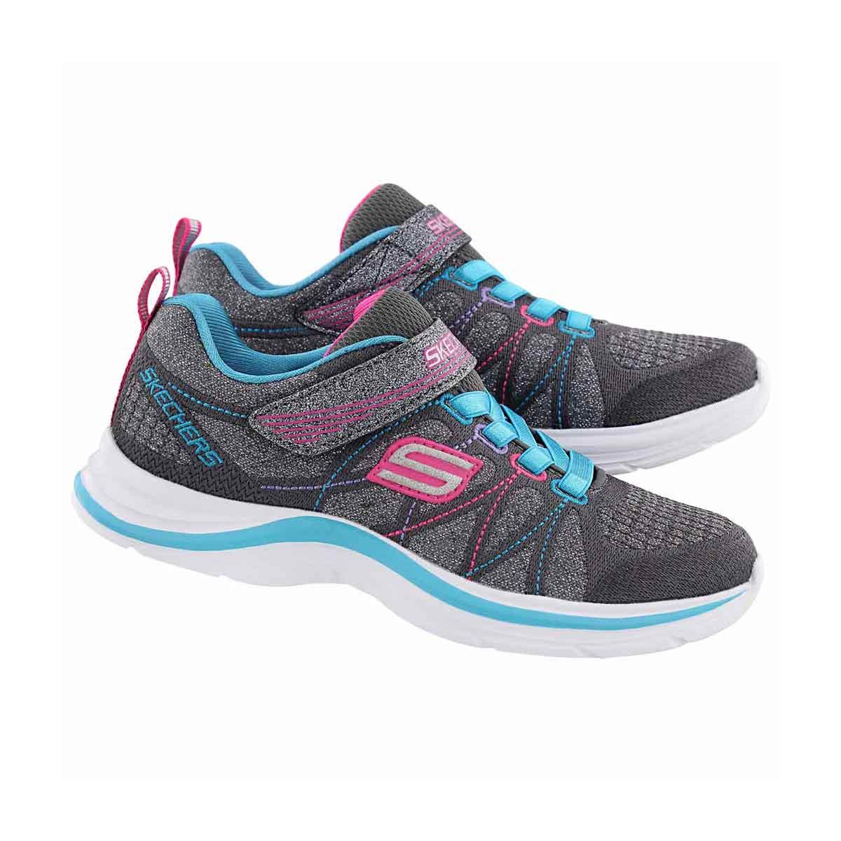 Grls Swift Kicks blu/mlt sparkle sneaker