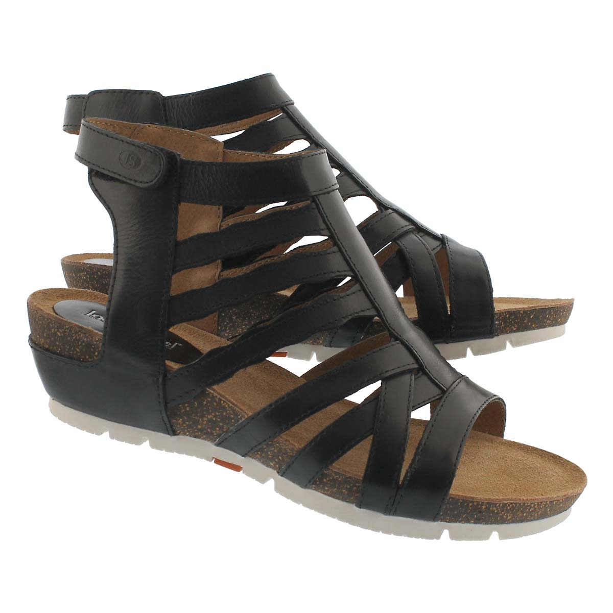 Lds Hailey 17 black dress wedge sandal