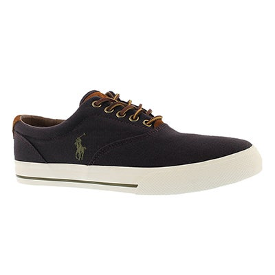 Polo Men's VAIGHN fall plum canvas/suede sneakers