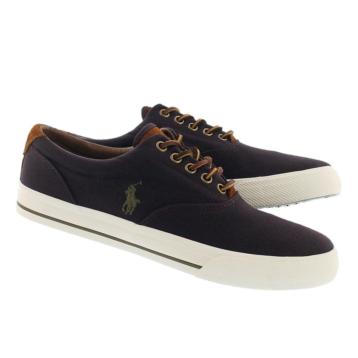 Mns Vaughn fall plum cnvs/sde sneaker
