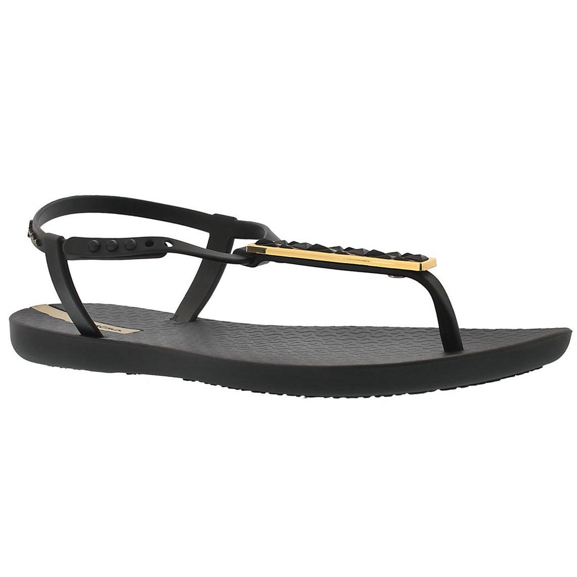 Lds Pietra black t-strap flip flop