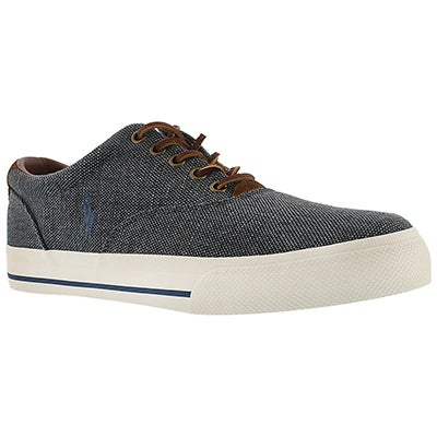 Polo Men's VAUGHN chambray burlap/suede sneakers