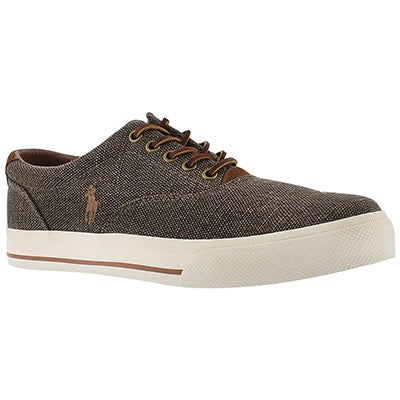 Polo Men's VAUGHN brown burlap/suede sneakers