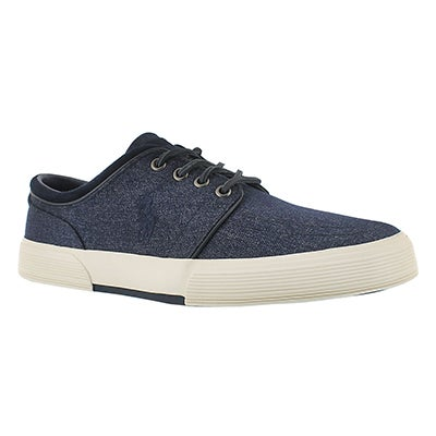 Mns Faxon Low nvy heatherd nylon sneaker