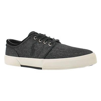 Mns Faxon Low blk heatherd nylon sneaker