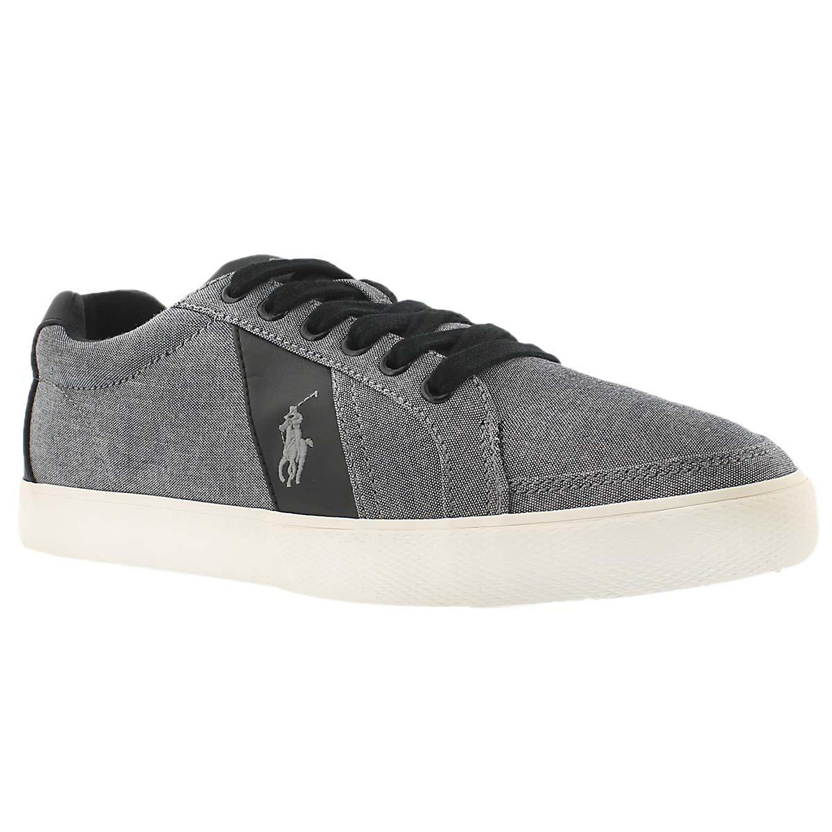 Men's HUGH grey chambray fashion sneakers
