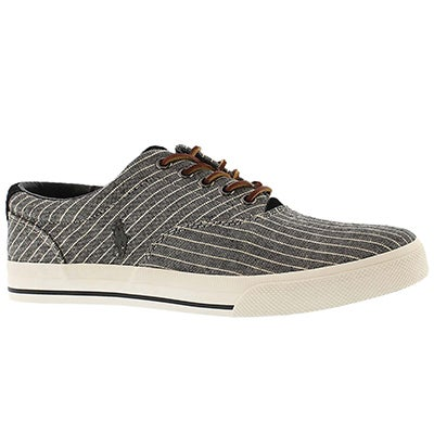 Polo Men's VAUGHN black striped canvas sneaker