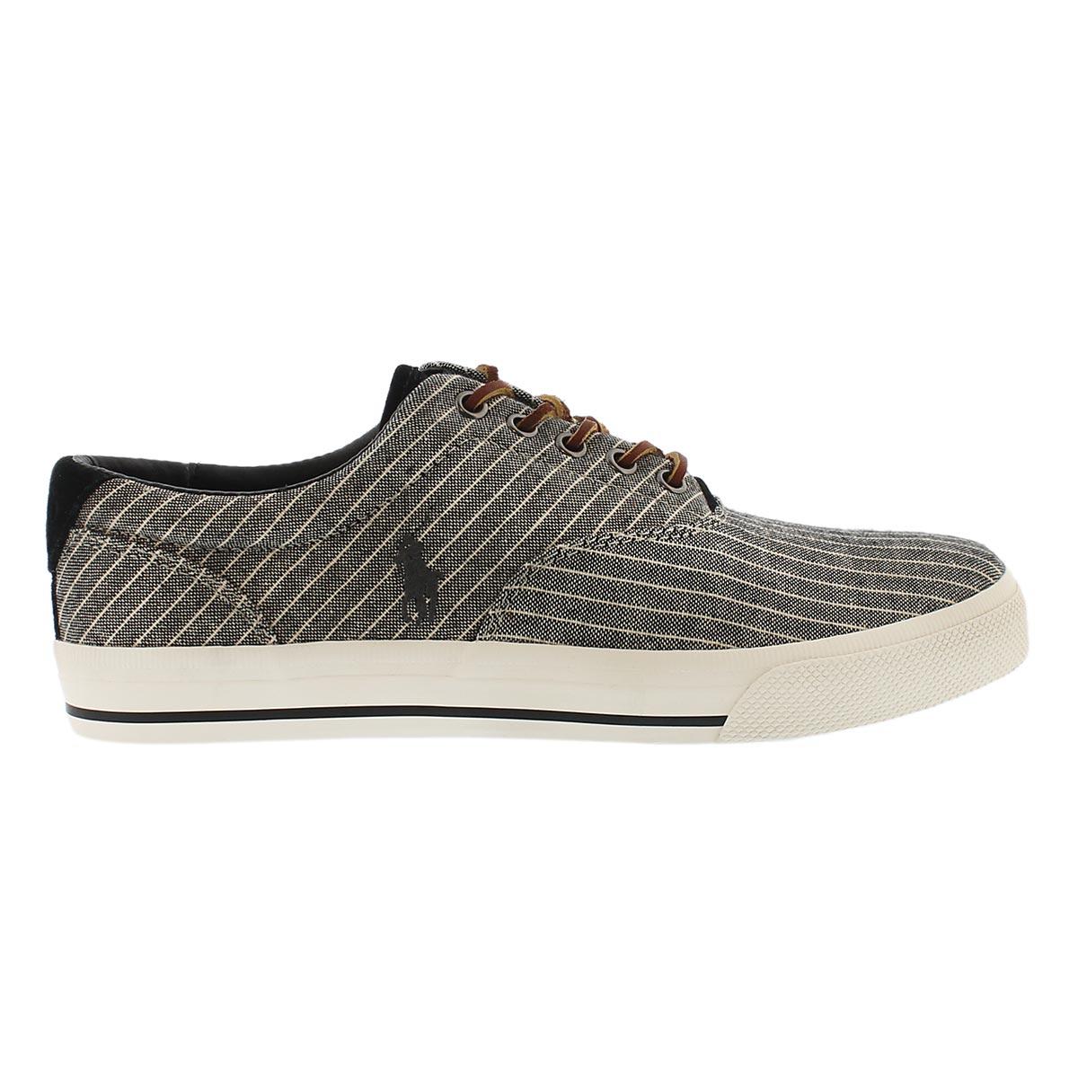 Mns Vaughn black striped canvas sneaker