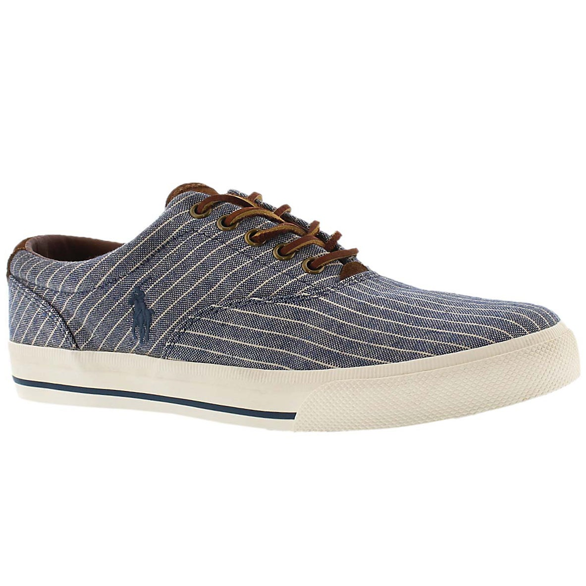 Mns Vaughn navy striped canvas sneaker