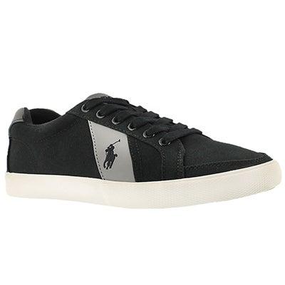 Mns Hugh blk/gry canvas fashion sneaker