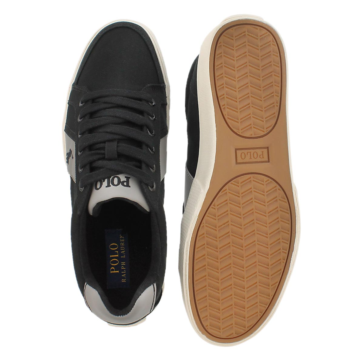 Mns Hugh blk/gry canvas fashion sneaker