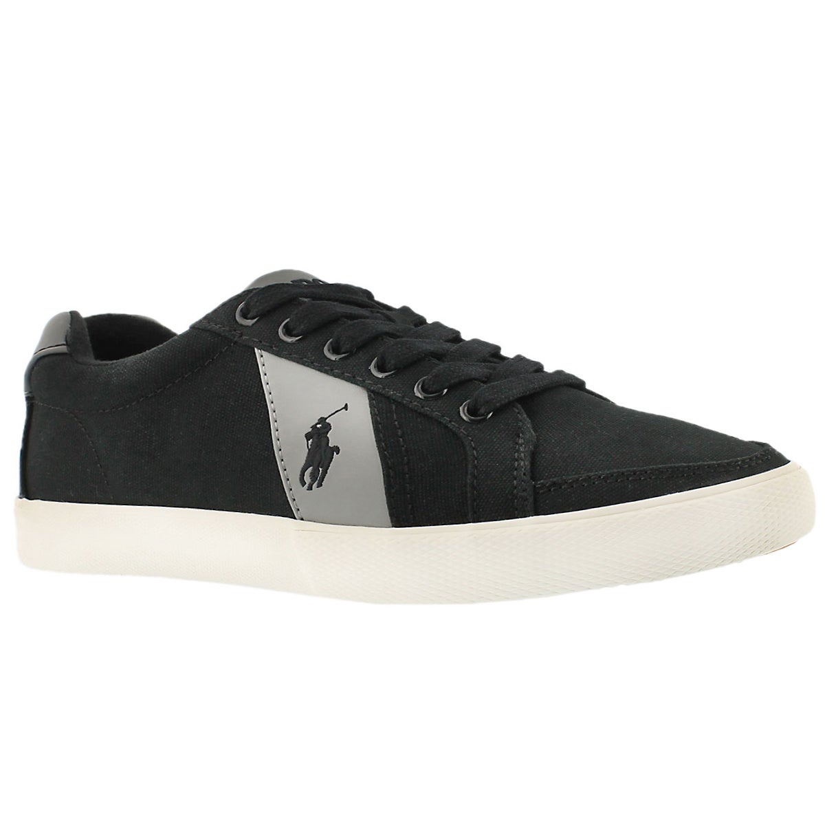 Men's HUGH black/grey canvas fashion sneakers