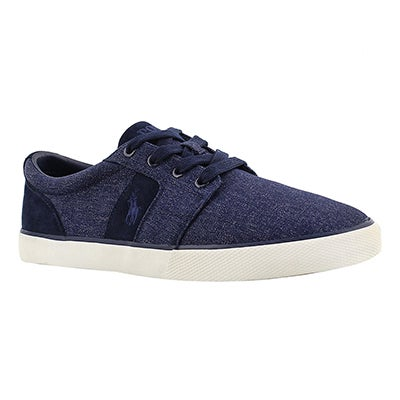 Polo Men's HALMORE navy suede/nylon sneakers