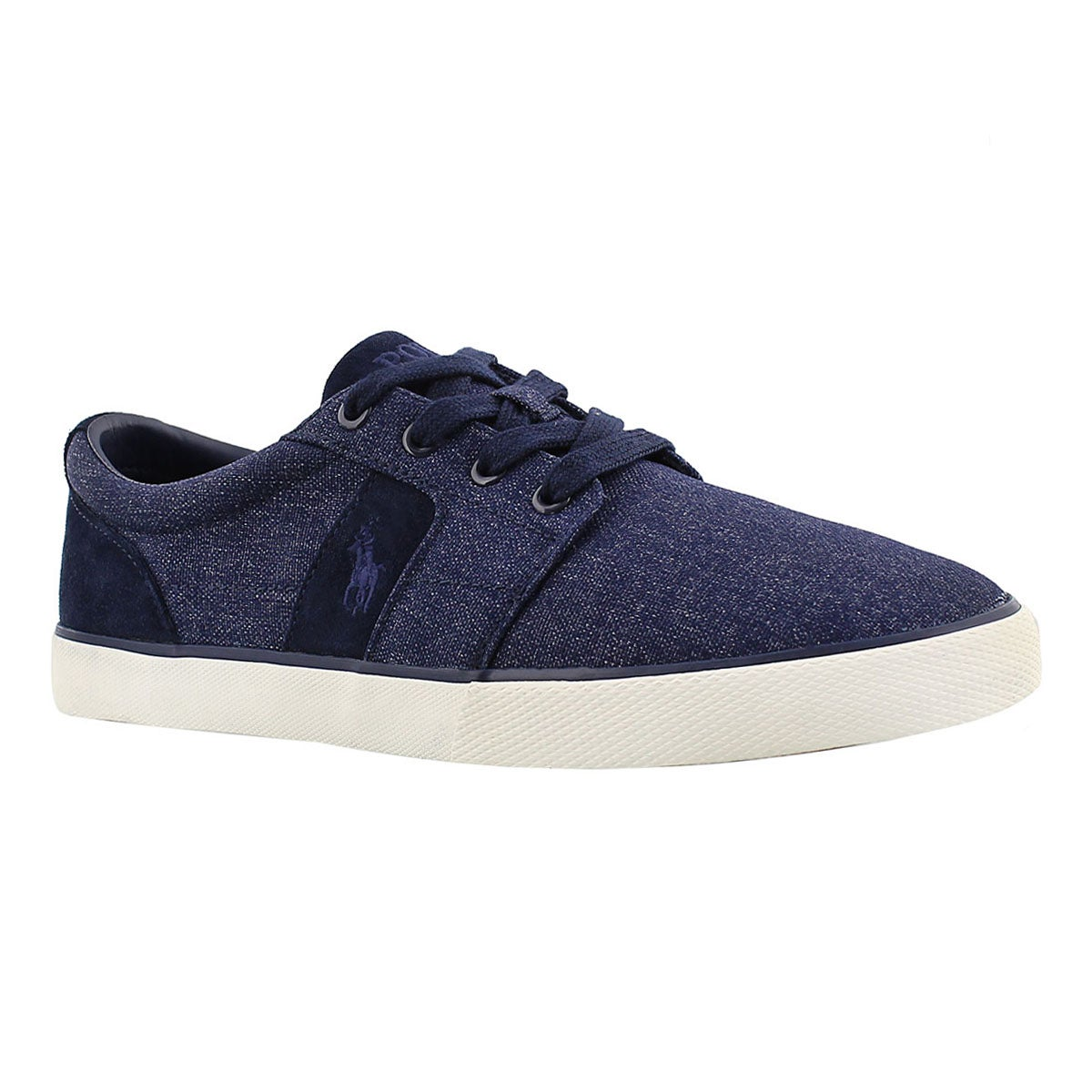 Men's HALMORE navy suede/nylon sneakers