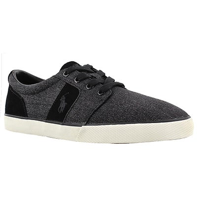 Polo Men's HALMORE black suede/nylon sneakers