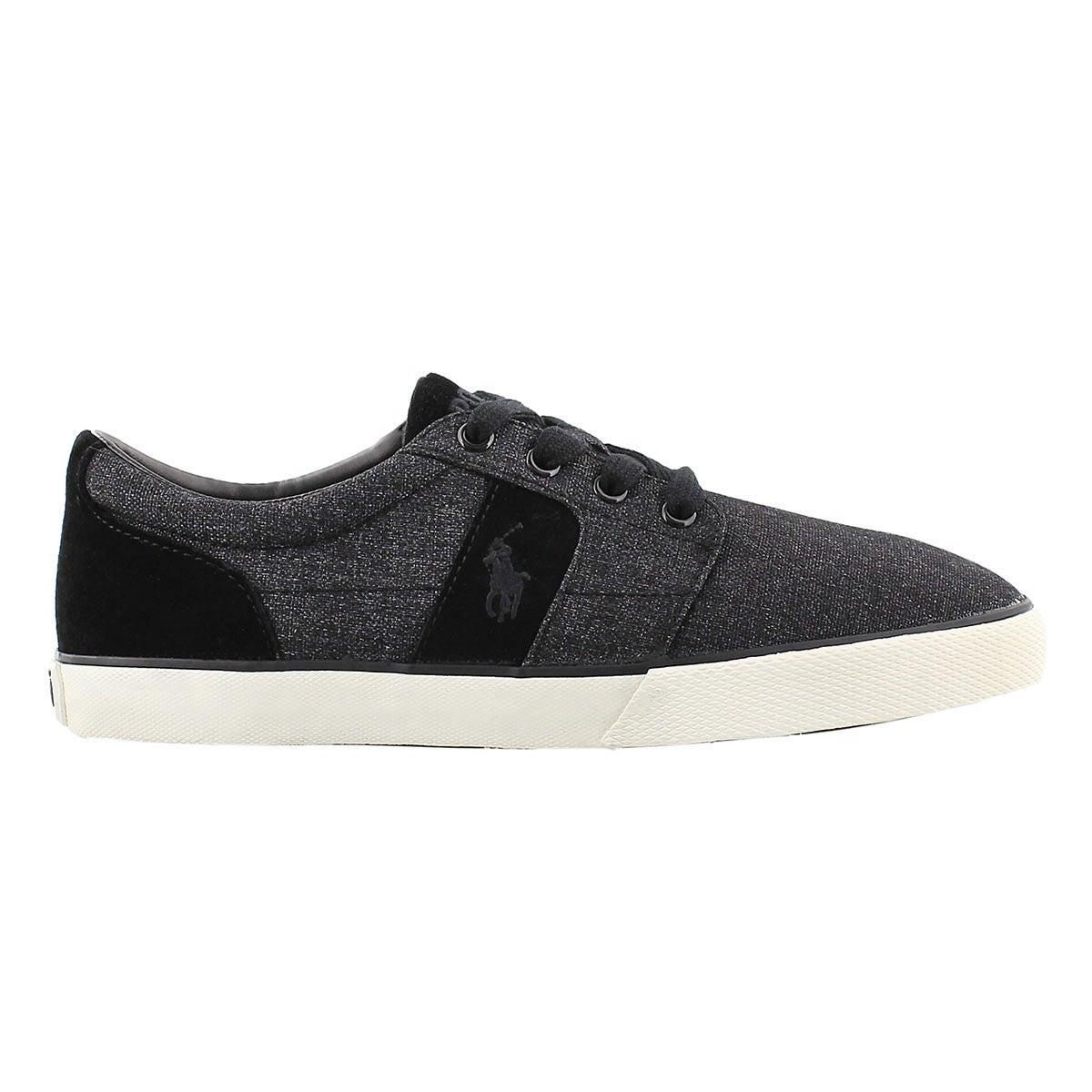 Mns Halmore black suede/nylon sneaker