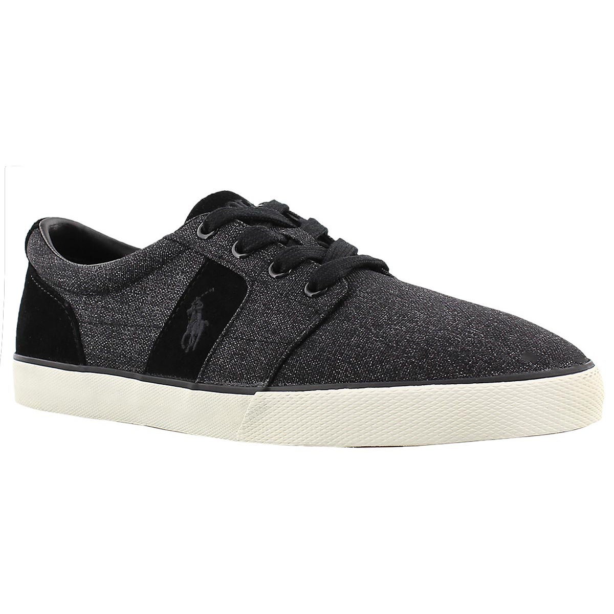 Men's HALMORE black suede/nylon sneakers