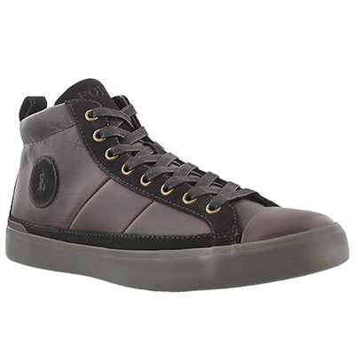 Polo Men's CLARKE dark brown lace up sneakers