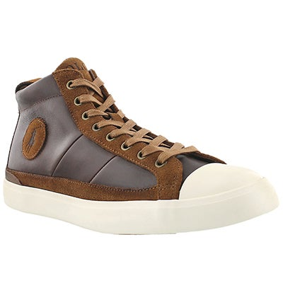 Polo Men's CLARKE tan lace up sneakers
