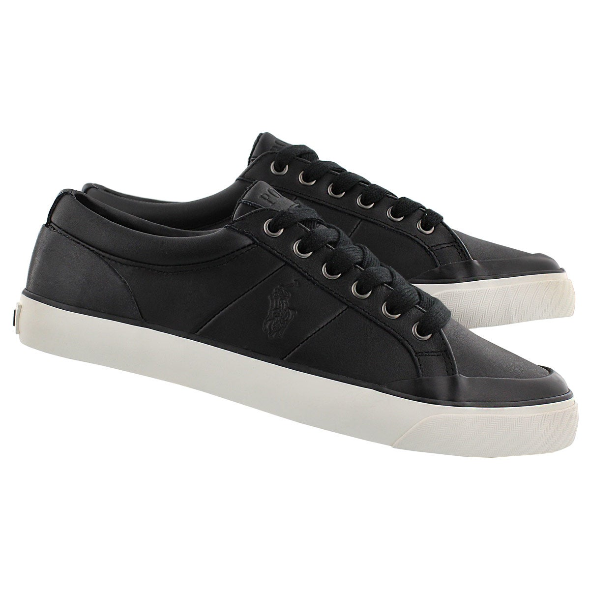 Mns Ian black leather lace up sneaker