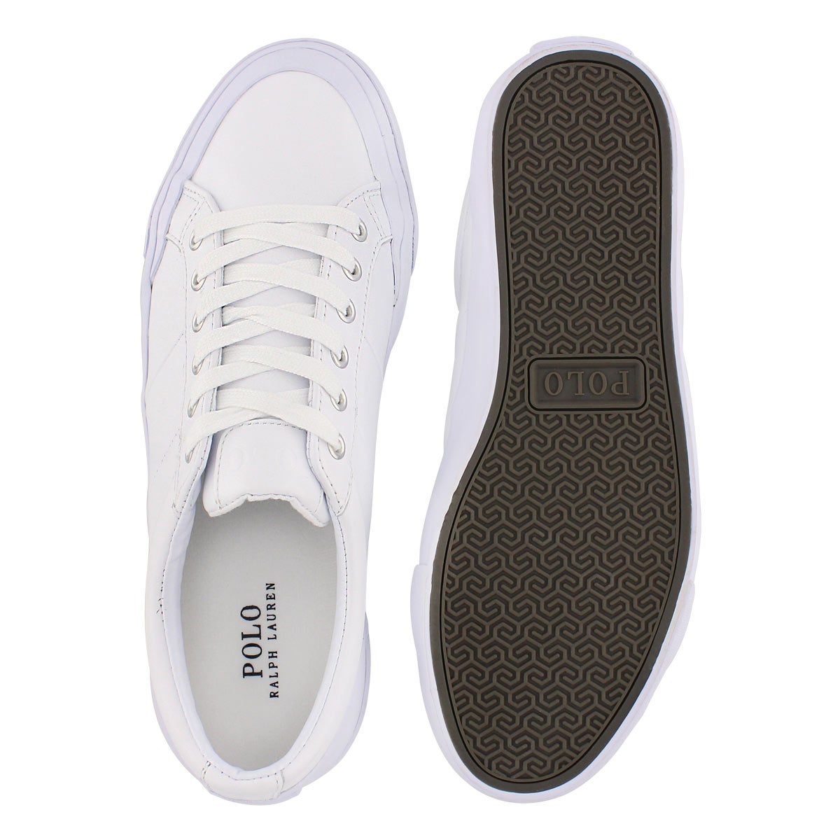 Mns Ian white leather lace up sneaker