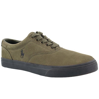 Polo Men's VAUGHN olive lace up sneakers