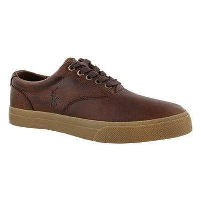 Polo Men's VAUGHN light tan/gum lace up sneakers