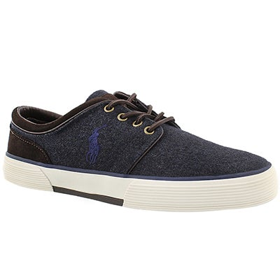 Polo Men's FAXON LOW navy/brown lace up sneakers