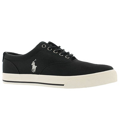 Mns Vaughn polo black canvas sneaker