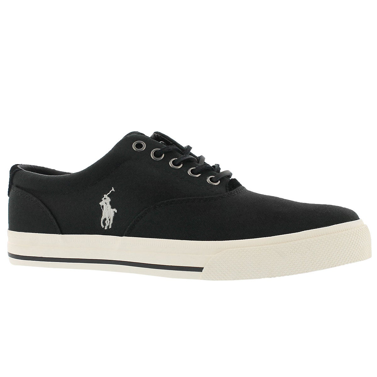 Men's VAUGHN polo black canvas sneakers