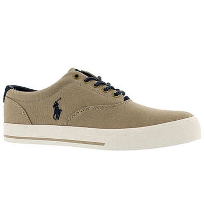 Polo Men's VAUGHN boating khaki canvas sneakers