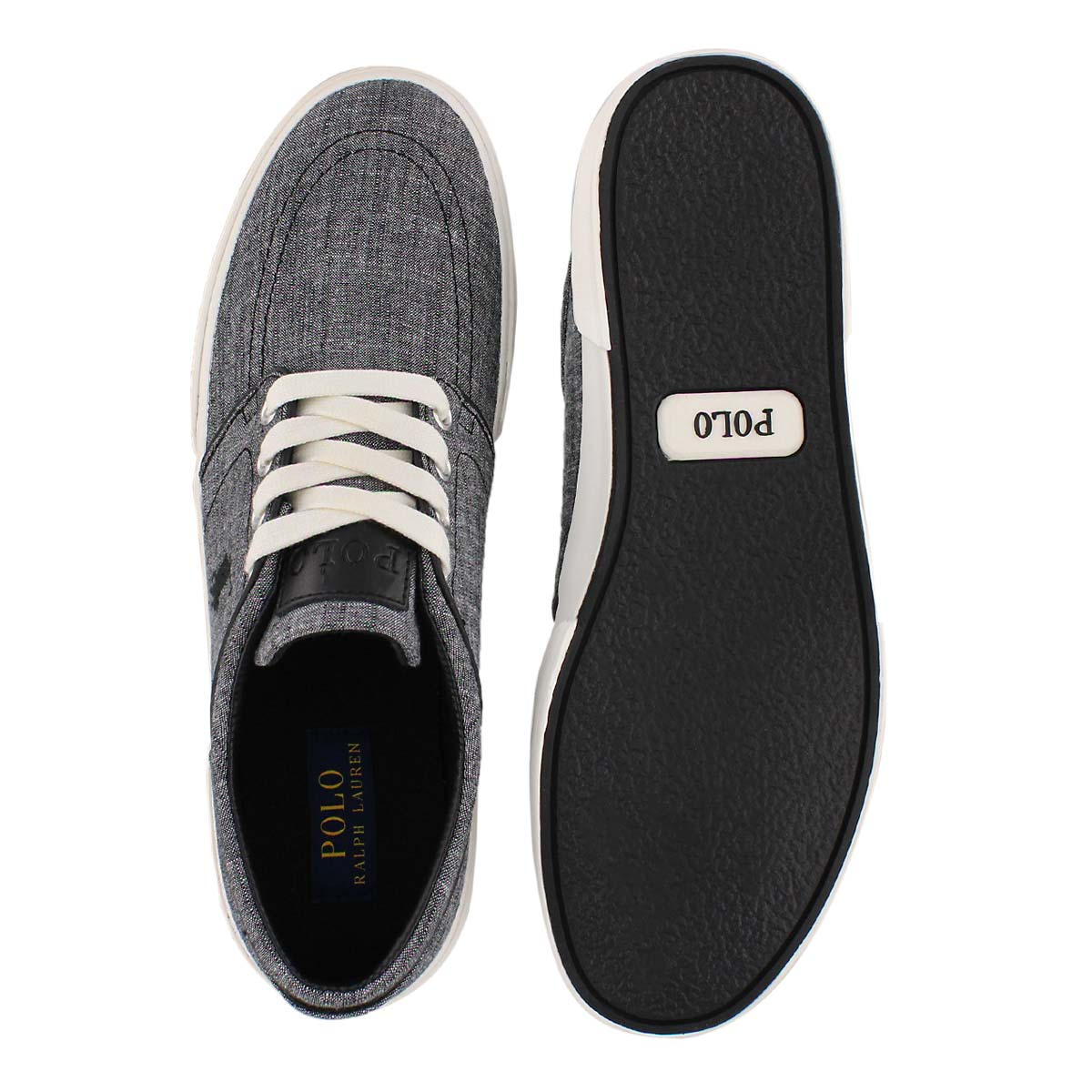 Mns Faxon Low faded blk chambray sneaker