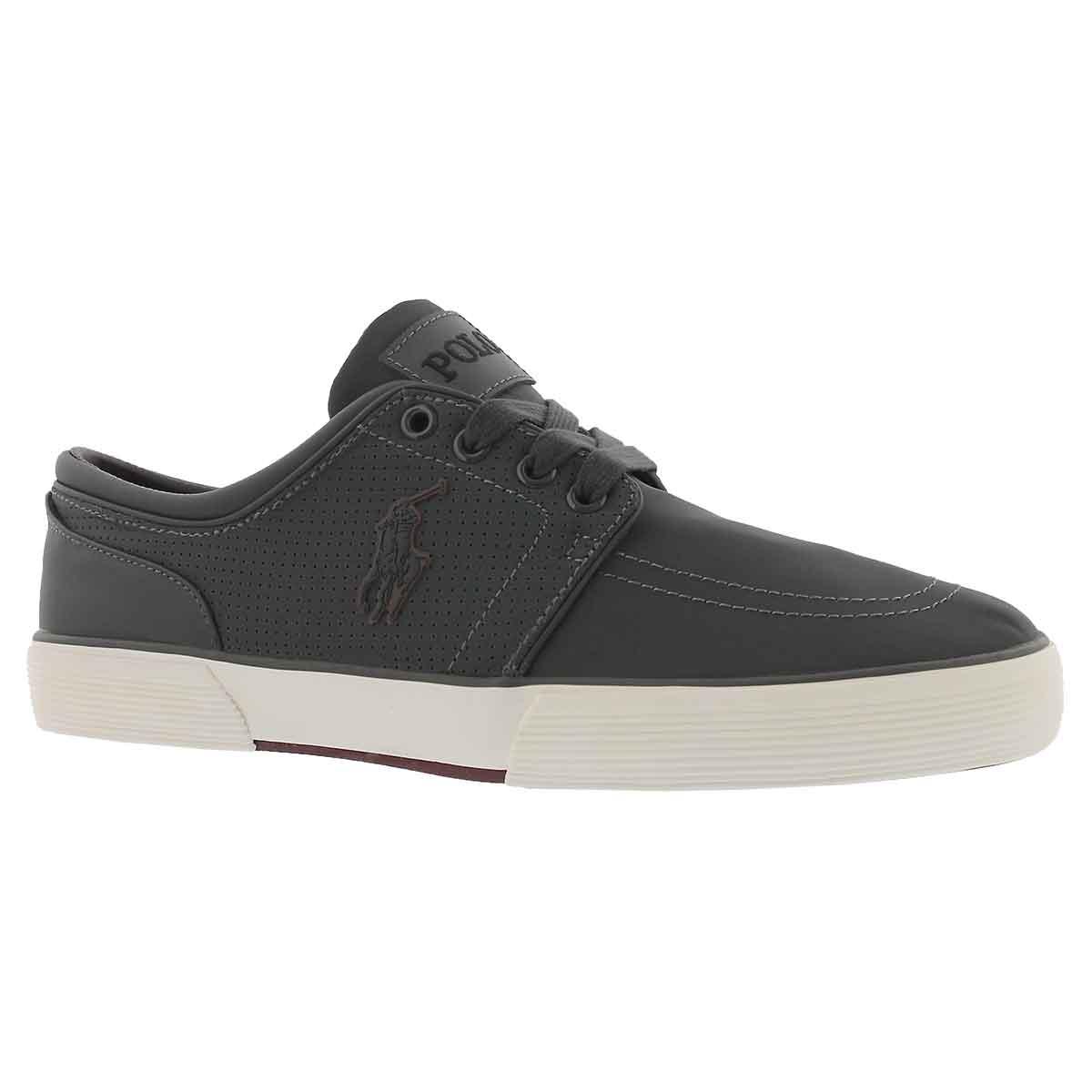 Men's FAXON LOW dark grey matte sneakers