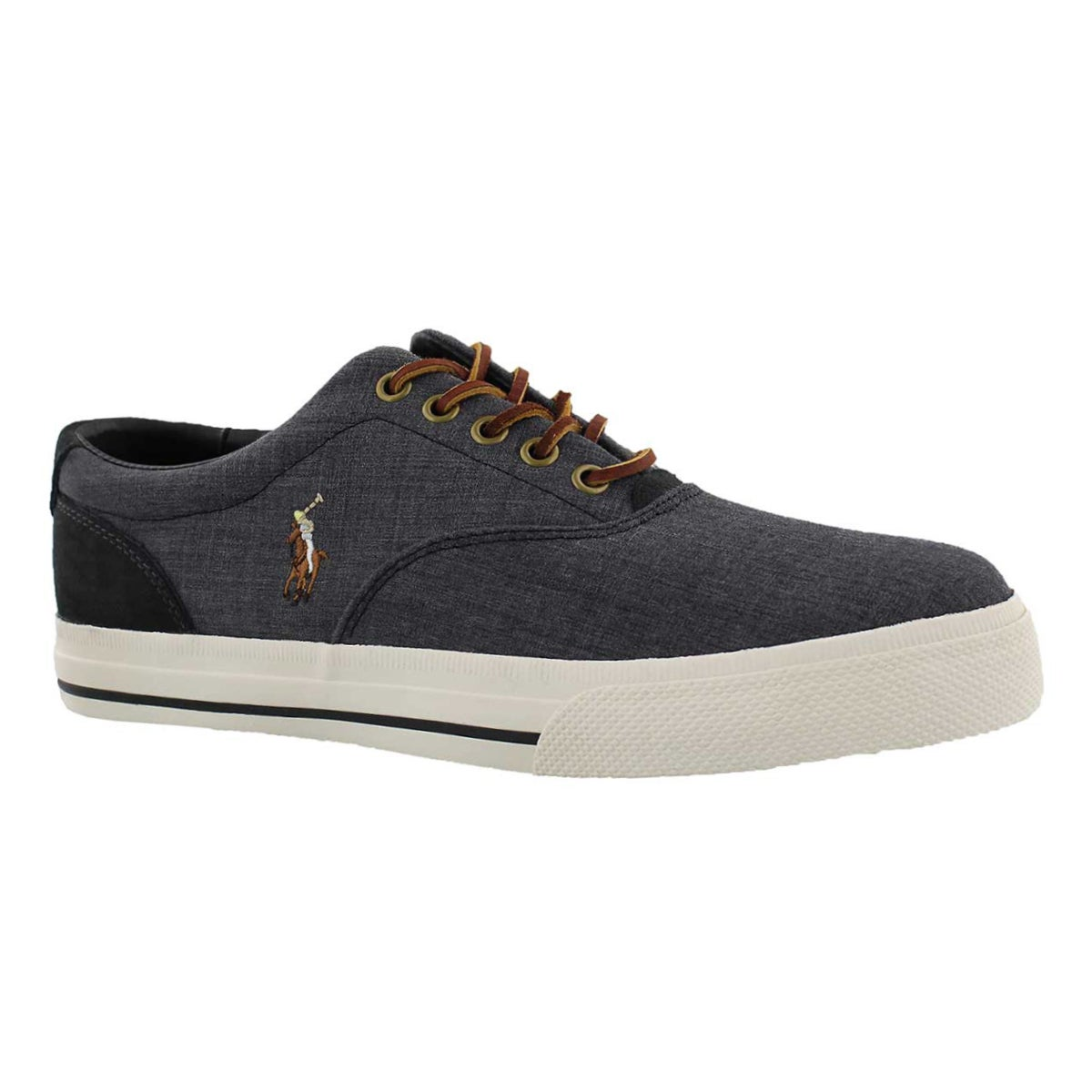 Mns Vaughn blk/carbon gry canvas sneaker