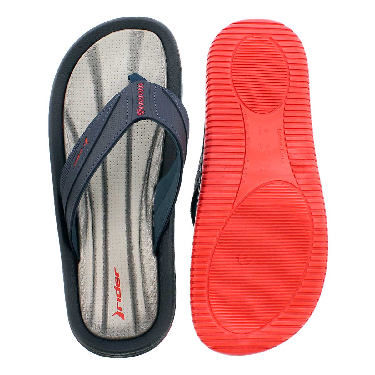 Mns Dunas XI blk/gry/red flip flop