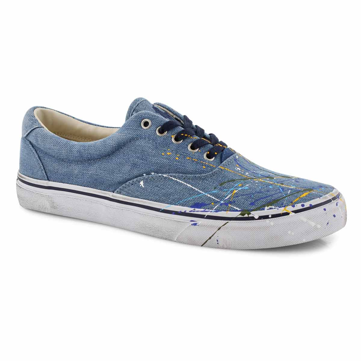 Mns Thorton washed denim lace up sneaker
